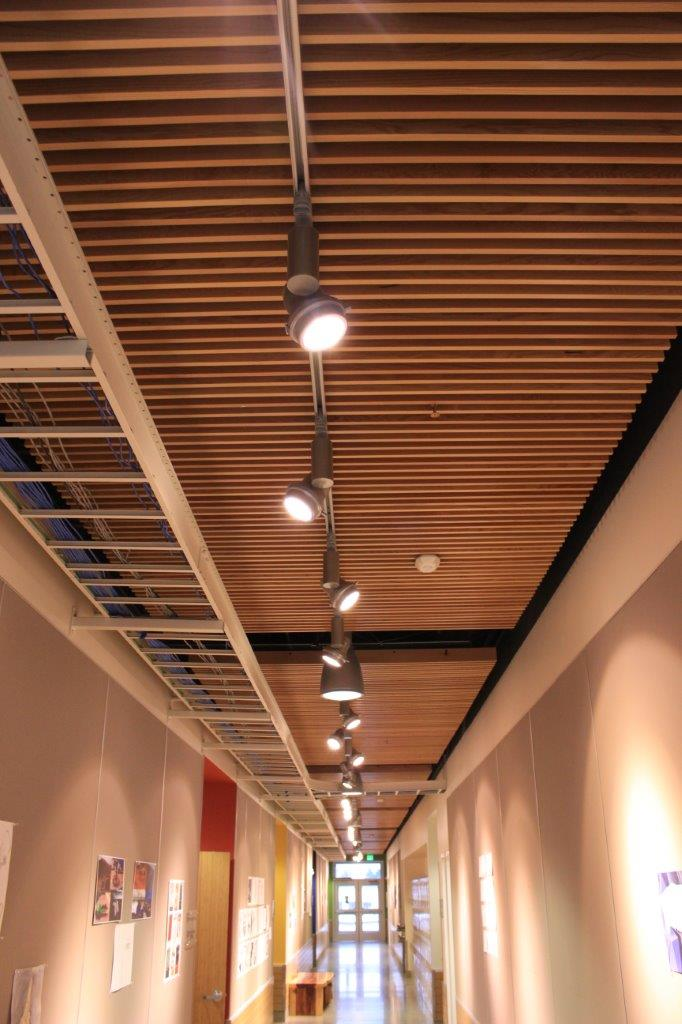 Suspended Wood Ceiling Wenatchee Valley College Fine Arts Building 2017 2